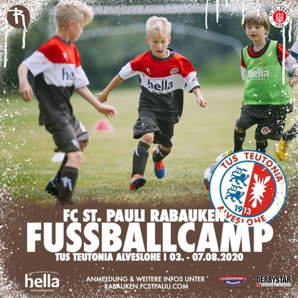 St-Pauli Fussballrabauken Trainingscamp vom 3.-7- August in Alveslohe